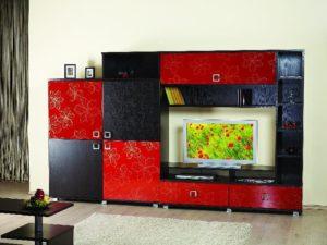 гостиные с цветными фасадами