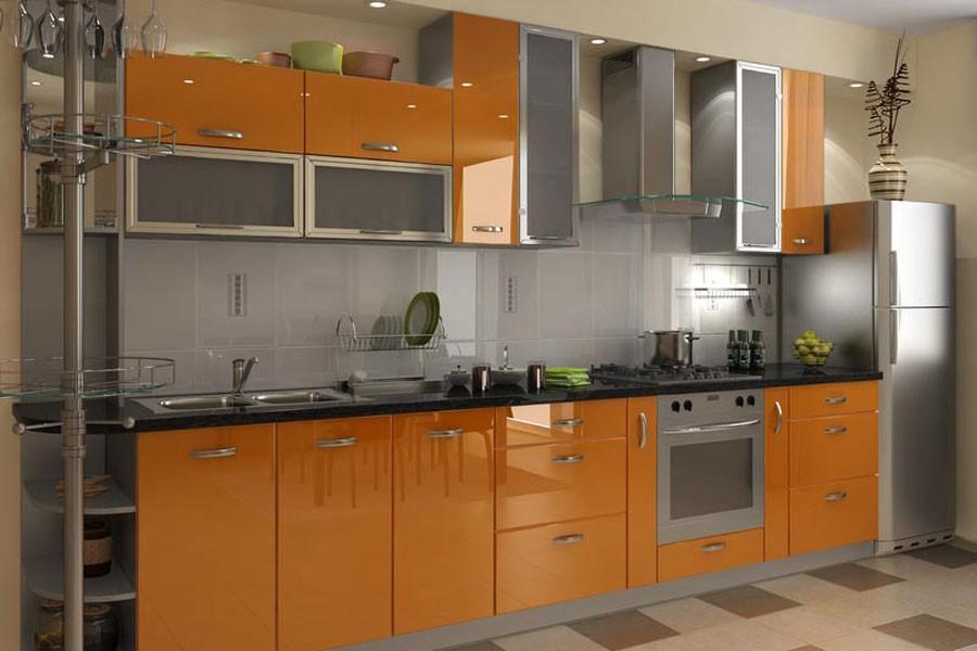 кухни с фасадами из акрила