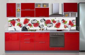 кухни с фасадами из глянцевых панелей