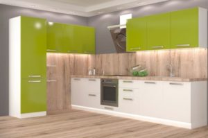 кухни с фасадами из пленки пвх