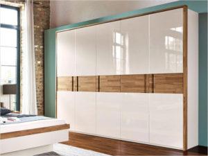 шкаф с фасадом из глянцевых панелей