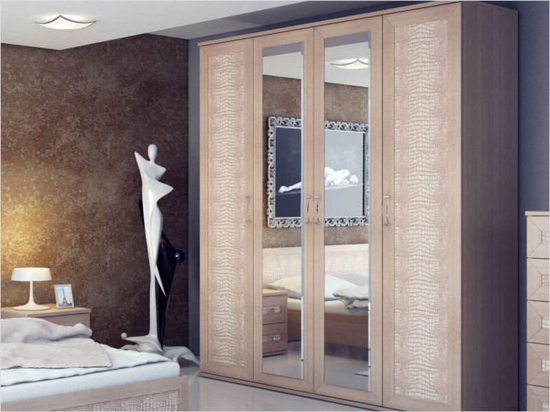 распашные шкафы со вставками из кожи