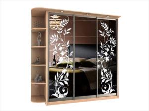 Шкаф-купе с использованием пескоструйного рисунка