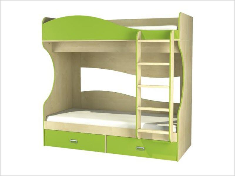 двухуровневые детские кровати
